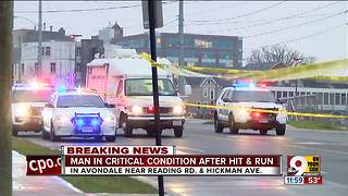 Man in critical condition after hit and run - Video