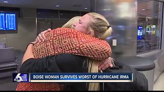 Boise State student safe after surviving Hurricane Irma in Caribbean - Video
