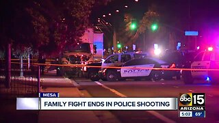 Family fight ends in police shooting in Mesa