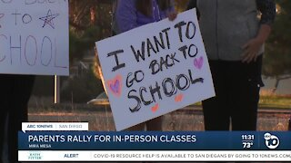 Parents rally for in-person classes