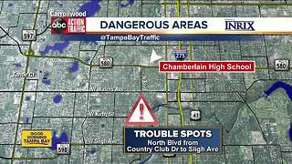 Dangerous conditions near school - Video