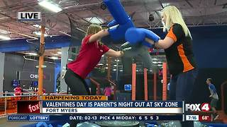 Valentines Day is Parents Night Out at Sky Zone Fort Myers - 7am live report - Video