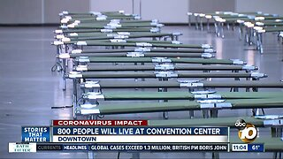 Convention center begins to fill up as city looks to take homeless off streets