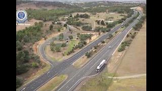 Drone Footage Shows Police Search For Missing Woman in Goulburn