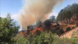 Wildfire Burning Near UC Berkeley Partially Contained - Video