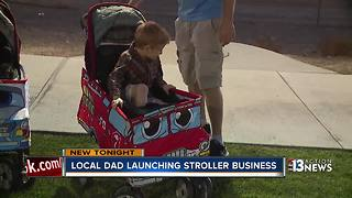 Las Vegas Dad-preneur building Stroller Costumes - Video