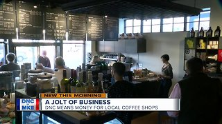 Coffee shops expected to see DNC business bump