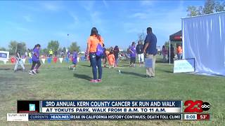 Kern County third annual cancer run/walk - Video