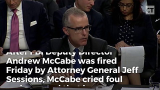 Shock Report: McCabe Secretly Investigated Sessions Before Firing - Video