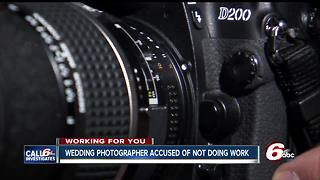 Wedding photographer accused of taking money, not doing work - Video