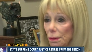 Justice Penny Wolfgang retires from State Supreme Court - Video