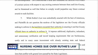 Nursing homes sue Erie County Executive over Ruthie's Law