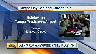 Over 45 companies at Tampa job fair on Tuesday