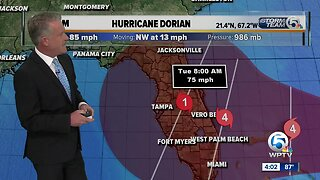 LATEST: Hurricane Dorian forecast to become Category 4, expected to make landfall Monday morning