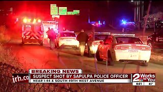 Suspect shot by Sapulpa police officer