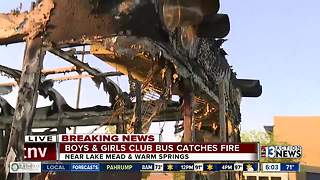 Bus catches fire at Boys & Girls Club in Henderson - Video