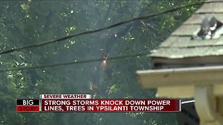 Afternoon storms knock out power to thousands in Washtenaw and Wayne counties - Video