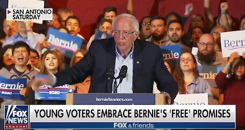 "Bernie Sanders' promises of ""free stuff"" woos young voters"