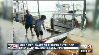 Gulf Red Snapper season extended