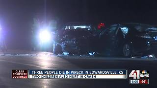 Three people killed, two children hurt in crash on K-32 in Edwardsville - Video