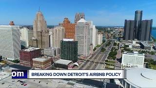 Breaking down Detroit's Airbnb policy