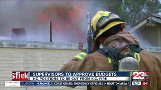 The Board of Supervisors scheduled to review budgets that include Kern County Fire's - Video