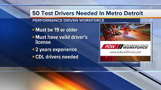 Performance Driven Workforce is hiring 50 test car drivers in metro Detroit - Video