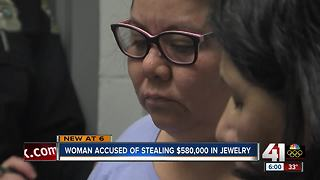 Housekeeper accused of stealing pricey jewelry