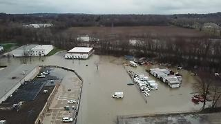 DRONE VIDEO: Flooding in Norton and Barberton after heavy rains - Video