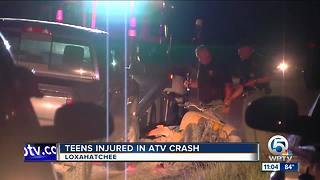 ATV, car collision sends 2 youngsters to hospital