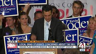 Local grad students concerned about tax bill - Video