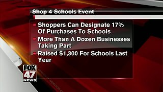 Buy local, support schools by shopping Saturday