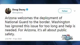 Trump border wall: Gov. Doug Ducey embraces Trump plan for Guard on border - Video