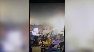 A Tot Girl Gets Mad When Her Dad Makes Some Noise - Video