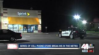 Shawnee, Olathe police investigating overnight break-ins at cellphone stores - Video