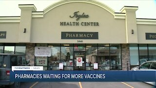 Pharmacies waiting for more rounds of the COVID vaccine
