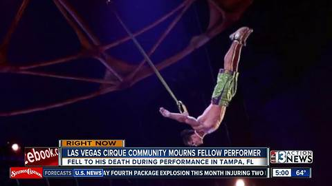 Cirque performer post about stunt hours before death