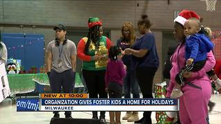 Organization gives foster kids a home for the holidays - Video