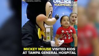 Mickey Mouse visits kids at Tampa General Hospital | Taste and See Tampa Bay - Video