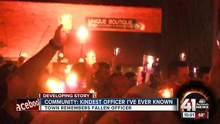 Fallen Clinton officer remembered at vigil - Video