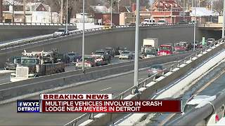 18 vehicles involved in crash on M-10 in Detroit - Video
