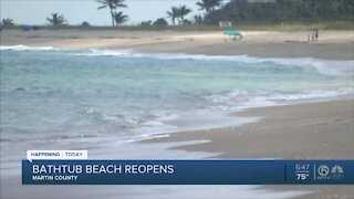 Bathtub Beach reopens in Martin County