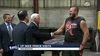 Vice President Mike Pence visits Weldall Manufacturing in Waukesha - Video