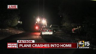 Small plane crashes into Payson home, investigation underway