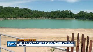 Restoration work being done at Quarry Lake Park - Video