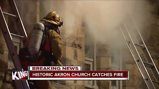 Fire destroys historic Akron church overnight - Video