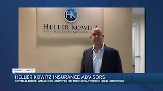 "Heller Kowitz Insurance Advisors in Timonium says ""We're Open Baltimore!"""