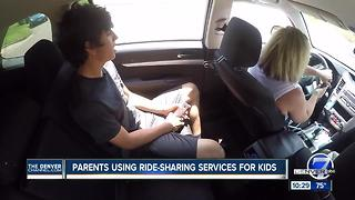 Parents using Uber, Lyft to drive unacompanied kids around town - Video