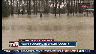 All day rains leave behind heavy flooding in Shelby County - Video