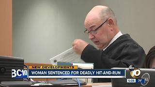 Woman sentenced for deadly hit-and-run in Point Loma - Video